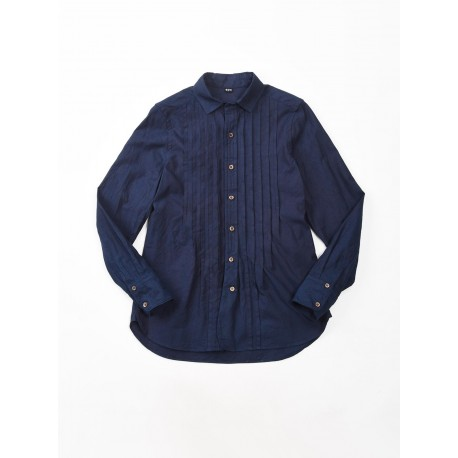 Indigo Oxford 908 Tuck Shirt
