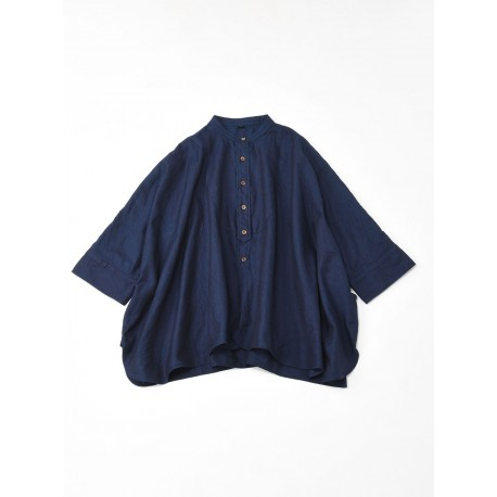 Indigo Supima Thin Oxford Big Shirt