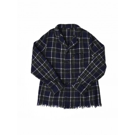 Boiled Indian Merino Check Jacket