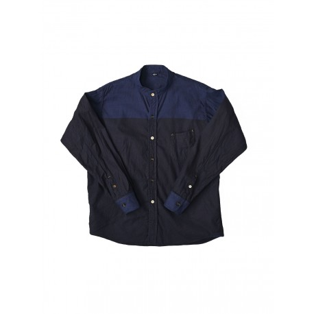 Indigo Oxford Ocean 908 Stand Basque Shirt