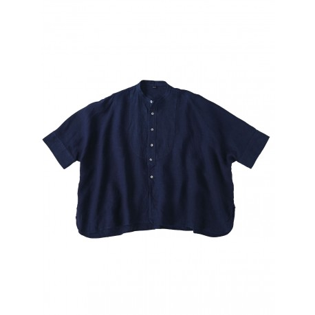 Indigo Indian Linen Big Shirt