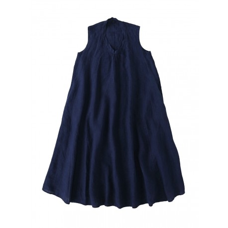 Indigo Indian Linen Dress