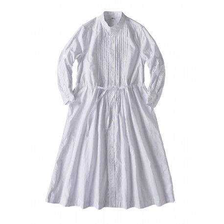 White Oxford Tuck Shirt Dress