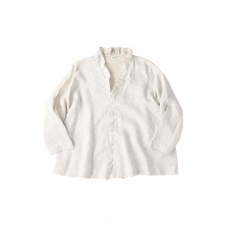 Indian Linen Twill Cache Coeur Blouse
