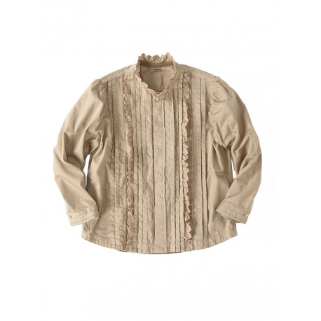 Goma Chino Tuck Lace Blouse