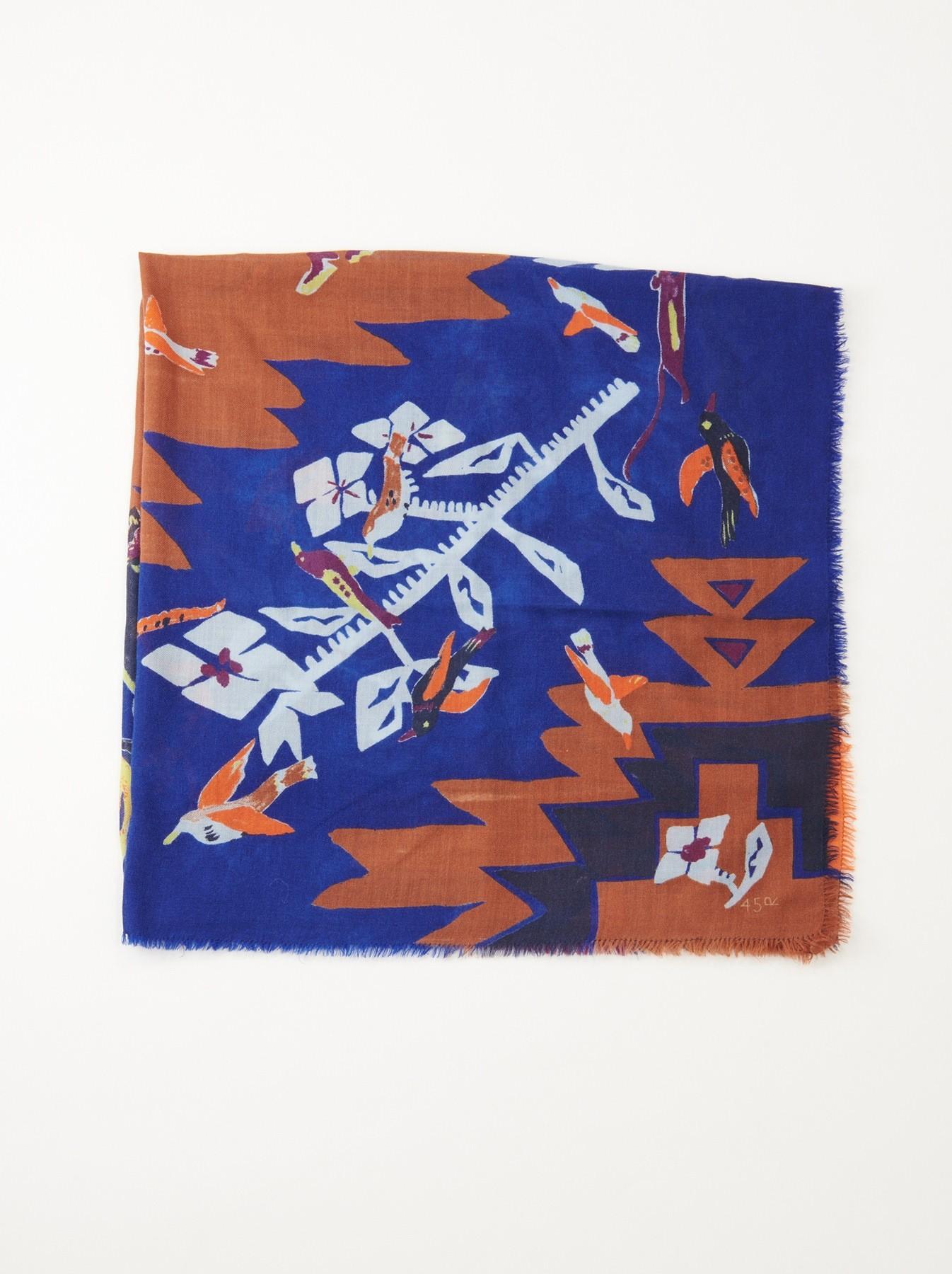 71 - Furoshiki base bleu