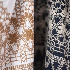 DOAMA HIRA EMBROIDERY DRESS This dress is made of plain-weave fabric with a sweetly woven second coat. It is soft and comfortable to the touch, like gauze. Delicate embroidery on all sides is a key point. The silhouette is soft and fluffy with gathers around the neck. Enjoy the natural color of the indigo dyeing process. Come and discover it in our shops! It is even more beautiful in real! Check our new items and how our designer would wear the new collection look on 45R ONLINE shop (Link in bio). Shipping is free of charge for EU 🚛 #45R #45RPM #jeans #indigo #cotton #madeinjapan #45r_official #fashion #45rparis #paris #tokyo #japan #france #lemarais #sainthonore #saintgermain #organiccotton #summervibes #ootd #organiccotton #藍染 #夏コーデ #spring #summer #aiindigo #ai