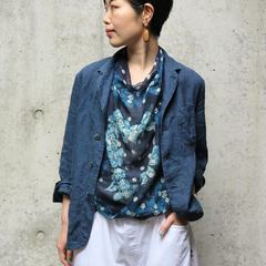 Aloha Gauze Bandana Indigo Indian linen shirt jacket  Model 159cm Wearing size Jacket 2-M- - - - - #45R #45ROCEANSTUDIO #bandana #5049103 #5049102 #7049106 #5041027 @45r_official @45r_nishinihon