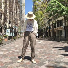 Posted @withregram • @45r_tokyo #45R丸の内 Indian Linen Shirt Jacket Indian Linen 908 Easy Poppo Pants Basket Braid HatModel 166cm Wearing size Jacket 2-M, Pants 2-S, Hat 0-free- - - - - #45R #45r_tokyo #丸の内 #二重橋スクエア #5041028 #8047125 #8046083 #7049112 @45r_official @45r_tokyo