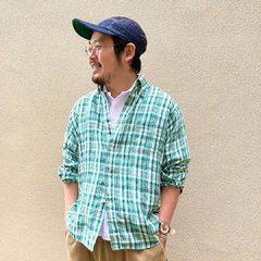 Indian linen 908 Ocean shirt Zimba Pique 908 Ocean Polo- - - - - #45R #45r_kansai #西宮阪急 #mensfashion @45r_official @45r_nishinihon