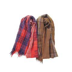 Merino Cashmere Kasuri Tartan Stole Red Checked / Beige Checked / Blue Checked#madeinindia #stole #45R #45r_official @45r_official