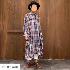 Indian flannel big shirt dress Felt hatModel 164cm Size dress: free - 0 Hat: 1-S- - - - - #45r_paris #45R #45r_official #45r_kanto #8115030 #8119045 @45r_official