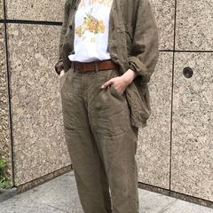 Linen After dyed 908 vest all Fruit print 908 Ocean T-shirt Linen After dyed 908 baker pantsModel 166cm Wearing size : Jacket 3-M, T-shirt 2-S, Pants 2-S- - - - - #45R #45r_tokyo #丸の内 #二重橋スクエア #8031033 #8037054 #8036074 @45r_official @45r_tokyo