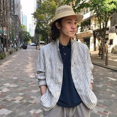 Indian linen twill Asama Jacket Indigo Zimba Pique 908 Ocean Polo Basket Braid HatModel 183cm Wearing size Jacket 3-M, Polo 4-L, Hat 0-free - - - - - #45R #45r_tokyo #丸の内 #二重橋スクエア #4041040 #4047289 #8046082 #7049112 @45r_official @45r_tokyo
