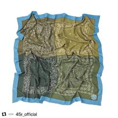 #Repost @45r_official ・・・ Float Mix Bandana Big FUROSHIKii British Green / Off White / Navy / BrownCheck our new items and how our designer would wear the new collection look on 45R ONLINE shop (Link in bio) Shipping is free of charge for EU 🚛 #45R #45RPM #jeans #indigo #cotton #madeinjapan #45r_official #fashion #45rparis #paris #tokyo #japan #france #lemarais #sainthonore #saintgermain #organiccotton #ootd #unisex #藍染 #夏コーデ #casualchic #autumncollection