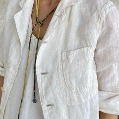 Indian Linen Shirt JacketModel 162㎝ Wearing size Jacket 2-S - - - - - #45R #45r_kansai #5041028 #7049106 @45r_official @45r_nishinihon