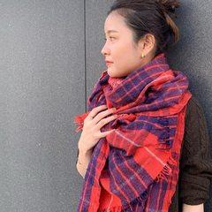 Indian Merino Cashmere Tartan Stole- - - - - #45R #45r_official #45r_kanto #muffler #stole @45r_official @45r_kanto
