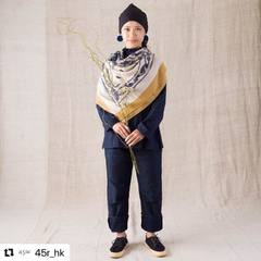 #Repost 【908 Week Yasuminate】- Float 4 Bandanna Mix Big Furoshiki Scarf Remember to bring along a scarf with you on rainy days, as it is more than just an ornamental accessories but also a protector to keep your body warm in transition between hot outdoor and cold indoor.Check our new items and how our designer would wear the new collection look on 45R ONLINE shop (Link in bio) Shipping is free of charge for EU 🚛#45R #Roots #45RPM #jeans #indigo #madeinjapan #45r_official #fashion #45rparis #paris #tokyo #japan #france #lemarais #sainthonore #saintgermain #organiccotton #ootd #unisex #藍染 #夏コーデ #casualchic #autumncollection #FW20 #denimlovers #indigodye #denimlovers #vintage #yasuminate #908week