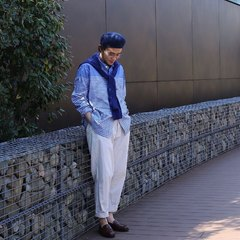 Oxford Ocean 908 Stand Basque ShirtDiscover our latest arrival on our online shop : 45r.fr ( link in bio )Thanks @45r_tokyo 📷#45R #45r_official #45rparis #SS21 #madeinjapan #japanesebrand #springcollection #unisexfashion #casualchic #unisexclothing #ootd