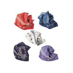 Silk Dot Charm Bandana Navy / Purple / Off White / Red / Ai-Dye#bandana #madeinjapan #45R #45r_official @45r_official