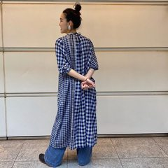 - Indian Flannel Dress -📸 @45r_kansaiCheck our new items and how our designer would wear the new collection look on 45R ONLINE shop (Link in bio) Shipping is free of charge for EU 🚛#45R #45RPM #jeans #indigo #cotton #madeinjapan #45r_official #fashion #45rparis #paris #tokyo #japan #france #lemarais #sainthonore #saintgermain #organiccotton #ootd #flannel #casualchic #vintagestyle #coordinate #autumncollection #AW20 #indigolovers #見本市 #8085041