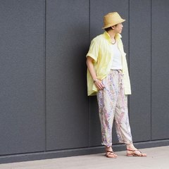 Dump AnueNue Ocean Shirt & Tencel Lei Lei Aloha Easy PantsThe model is 161㎝ tall, she is wearing size 3-M (shirt ) and size 2-M (pants)− – − – – @45r_nishinihon #45r_official #45rparis #45rpm #madeinjapan #japanesebrand #45Rstaffstyling #4053070 #7046024 #45rpmjapan @45r_official
