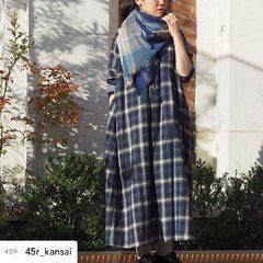 Indigo Twill Double woven Dress- - - - - Model : 155cm Size : 0-free- - - - -#45r #45r_kansai #daimarushinsaibashi #大丸心斎橋 #mensfashion #womensfashion #5115036 #5109112 @45r_official